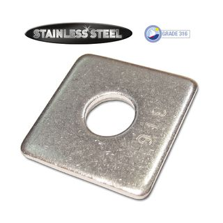 Square Washers - Stainless Steel
