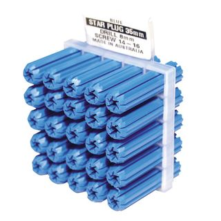 PVC Wall Plugs - 8mm Blue
