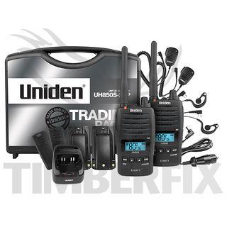 Uniden 5W UHT Hand Held Radio - Tradies Pack