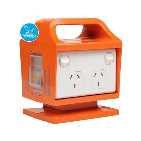 4 Outlet Portable Power Centre 10amp with RCD.