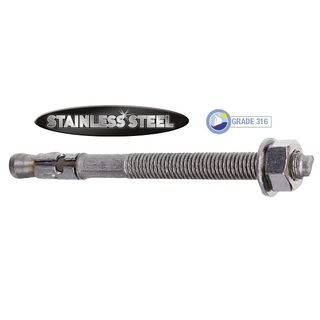 M10 x 75mm Stainless Trubolt