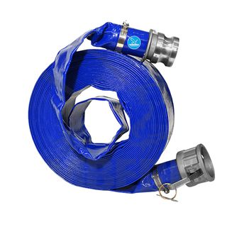 Blue Layflat Hose 50mm x 50M Fitted with Camlocks ( C & E)