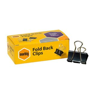 Bulldog foldover clip 25mm