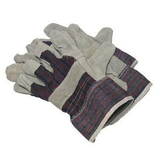 Economy Cotton Leather Gloves per pair