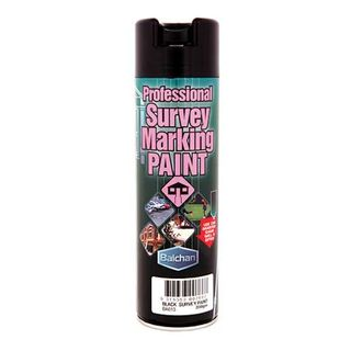 Survey Marking Paint; 350gm Spray BLACK