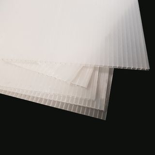 2.5mm Corflute Protection Sheet 350gsm 1800 x 1200mm - TRANSLUCENT