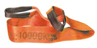 10,000kg x 10m Flat Sling Orange