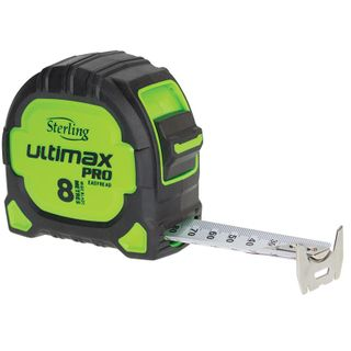 8mtr Sterling Ultimax Pro Tape Measure 25mm Blade Width