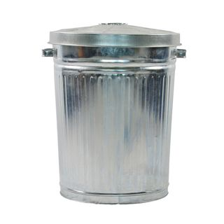 75 Ltr Galvanised Garbage Bin with Lid