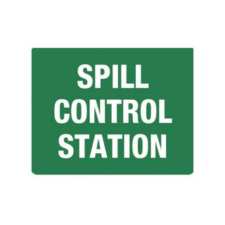 Spill Control Station 600mm x 450mm Poly Sign
