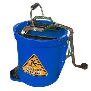 16Ltr Plastic Mop Wringer Bucket - BLUE