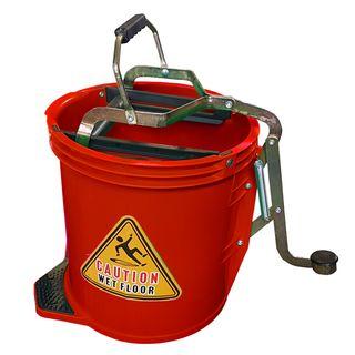 16Ltr Plastic Mop Wringer Bucket - RED