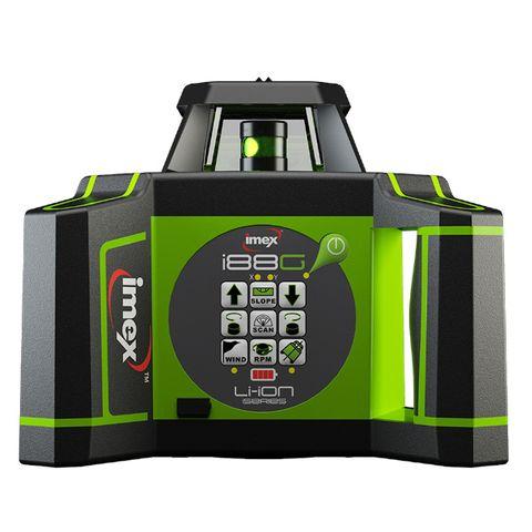 i88G Rotating Laser w/ Tripod & 5m Staff - Green Beam
