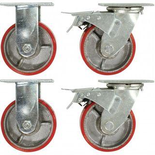 Set of 4 / Heavy Duty Castor Wheels to suit the T738 Sitebox