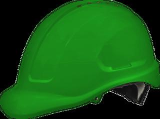 Hard Hat Premium Vented 6 Point - GREEN -