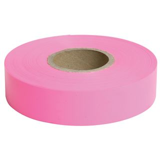 Flagging Tape Pink 25mm x 75m - Surveyors Ribbon -