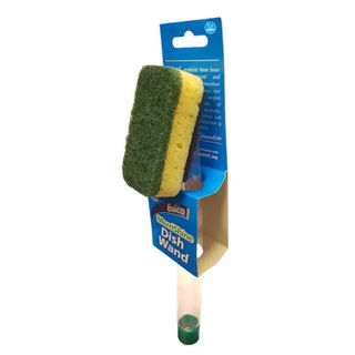 Dishwashing Brush with refill handle & replaceable scourer pads