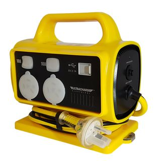 HD Portable Power Centre, 5 x 10amp Outlet 1 x USB Charger with RCD.