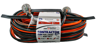 25m Extension Lead Heavy Duty 15 amp Lead and plug - ( Black & Red )