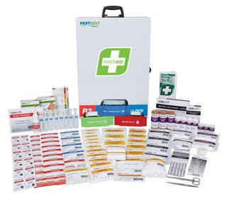 First Aid R3 Constructa Max Pro Kit, Strong Steel Box - Up to 50 people on Low Risk Site