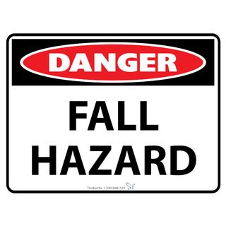 600 x 450mm Poly Danger Fall Hazard Sign