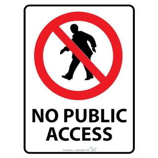 450 x 600mm No Public Access With Picto Poly Sign