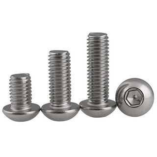 M12 x 50mm Button Socket Hd  Screw S/S Gr 316