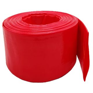102mm  Red Layflat Hose per meter - Unfitted