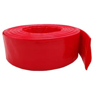63mm  Red Layflat Hose per meter - Unfitted