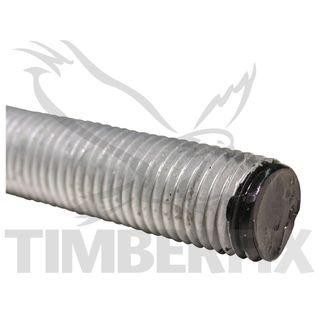 M12 x 1m Galvanised Hi Tensile Threaded Rod