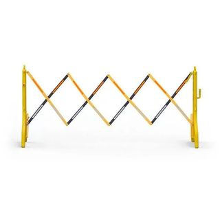 Plastic Expanding Barrier - Black & Yellow - Extends to 2.4m
