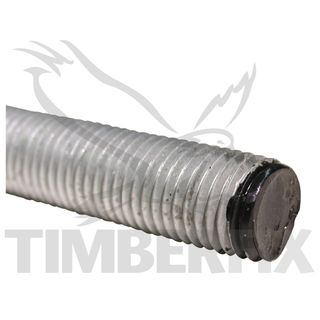 M10 x 1m Galvanised Hi Tensile Threaded Rod