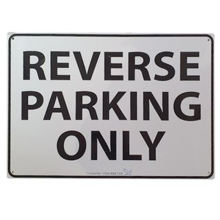 Clearance Signage - Reverse Parking Only - Poly - 450 x 290mm