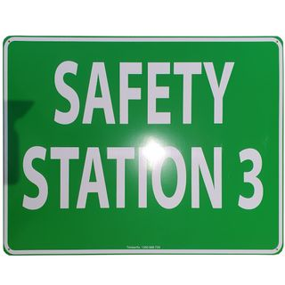 Clearance Signage - Safety Station 3