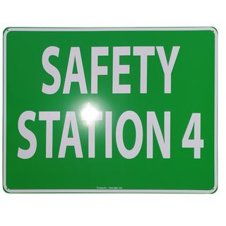 Clearance Signage - Safety Station 4