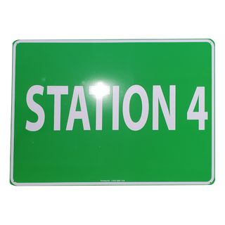 Clearance Signage - Station 4