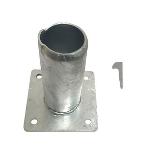 50NB Gal Sign Post Bolt Down Base Plate