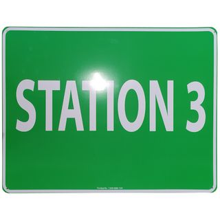 Clearance Signage - Station 3