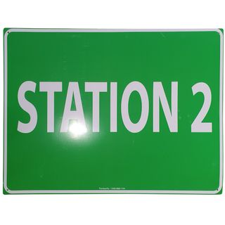 Clearance Signage - Station 2