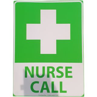 Clearance Signage - Nurse Call