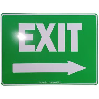 Clearance Signage - Exit - Right Hand Arrow