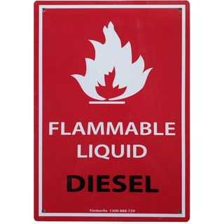 Clearance Signage - Flammable Liquid - Diesel - 205 x 295mm - Metal