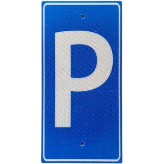 Clearance Signage  Blue Parking Sign - 225 x 450mm - Metal - Reflective