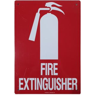 Clearance Signage - Fire Extinguisher - 210 x 300mm - Metal