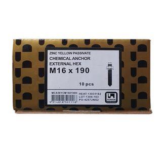 Clearance Chemstud - M16 x 190mm - Zinc - Box 10