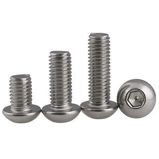 M12 x 60mm Button Socket Hd Screw S/S Gr 316