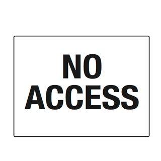 No Access 600 x 450mm Poly Sign