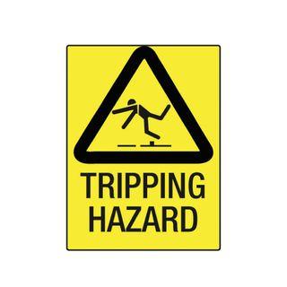 Tripping Hazard 600mm x 450mm Poly Sign