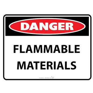 Flammable Materials 600 x 450mm Poly Sign
