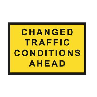 1800 x 1200mm Changed Traffic Sign